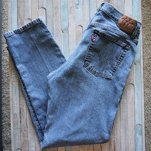 Levi's 550 Vintage High Waisted Light Mom Jeans 14